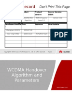 OWO113030 WCDMA RAN11 Handover Algorithm and Parameters ISSUE1.02