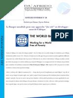 """La Banque mondiale pour une approche """"plus utile"""" au développement de l'Afrique"""