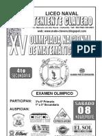 Examen de Olimpiada de a 4to Sec. 2008