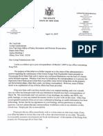 April 10, 2007 - Senator Flanagan Again Writes Acting Commissioner Ash
