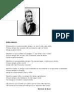 Poema 'Bons Amigos' Machado de Assis'