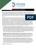 Barack Obama & Joe Biden's Small Business Emergency Rescue Plan
