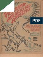 1946. Programa Agrario Del Aprismo