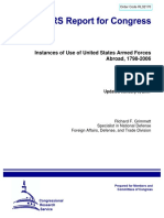 Instances of Use of United States Armed Forces