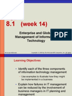 Week 14 - Enterprise & Global Management Information Technology