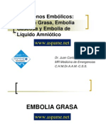 embolia grasa, gaseosa