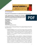 Propuesta de lineamientos de reafirmación doctrinal del PAP. 2011