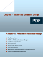 7 Relational Database Design