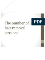 The Number of Laser Hair Removal Sessions