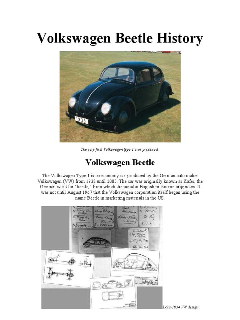 the best visual volkswagen beetle history automotive industry