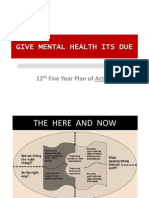 Guidance Document - Mental Health Coverage In 12th Five Year Plan India