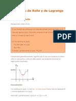 Teoremas de Rolle, Lagrange y Cauchy Demostraciones