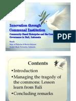 Community Innovation Ipra Conference