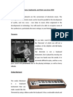 Synthesizers and Keyboards