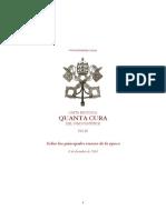 1864 - Pío IX - Principales errores de la época QUANTA CURA