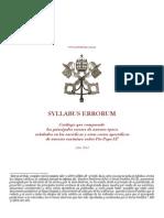 1864 - Pío IX - Errores de la época SYLLABUS ERRORUM
