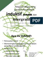 Pembelajaran Induktif, Deduktif & Intergratif
