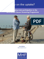 Slow on the uptake - Encouraging male participation in the NHS Bowel Cancer Screening Programme