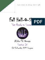 Fall Fellowship Brochure Design 2
