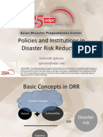 Policies and Institutions in Disaster Risk Reduction by Gabrielle Iglesias, ADPC, Thailand