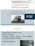 Policies Institutions Transnational Cooperation by Emil Nasritdinov, American University of Central Asia, Kyrgyzstan