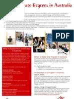 Undergraduate Degrees in Australia - Information