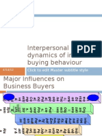 Interpersonal Dynamics of Industrial Buying Behaviour