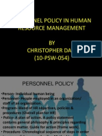 Personnel Policy Presentation