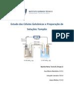 Estudo das Células Galvânicas e Preparação de Solução Tampão