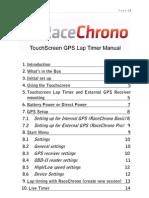 RaceChrono Touchscreen v1420 Full Manual