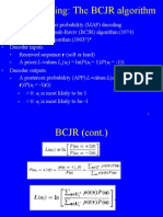 MAP decoding, BCJR algorithm
