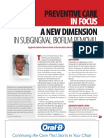 A New Dimension in Subgingival Biofilm Removal - PPD September 2011