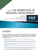 ROBERTO VILLARREAL on Regional Development