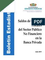 Saldos de Cuentas Fiscales Junio-2011