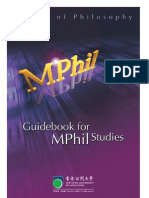 MPhil Guidebook