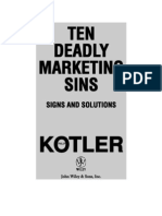 Kotler - Ten Deadly Marketing Sins