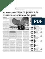 El compromiso Es Poner a La Mineria Al Servicio Del Pais