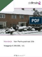Brochure Van Panhuysstraat 23 b
