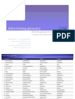 Advertising Glossary in 4 languages
