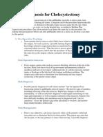 Nursing Diagnosis for Cholecystectomy