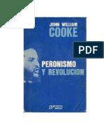 John William Cooke Peronismo y Revolucion