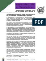 Nota Prensa La Imagen en La Iglesia 13-09-2011