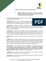 RESOLUÇÃO CFESS N° 615, de 8 de setembro de 2011 EMENTA