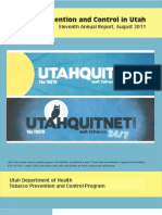 Tobacco Prevention and Control in Utah, 11th Annual Report