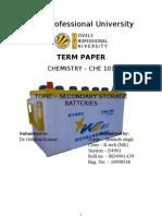 secondary storage battery