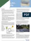 Photo Voltaic (PV) - Solar Electricity