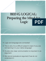 Being Logical 1