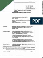 SR en 752 - 3 - Retele de Canalizare in Exteriorul Cladirilor - Partea 3 - Prescriptii Generale de Proiectare