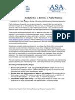 Statistics Best Practices Guide