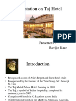 Presentation on Taj Hotel
